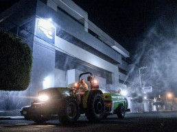 TIFONE sprayers in anti-COVID 19 road disinfection treatment in Mexico